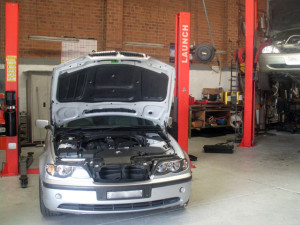BMW E46 in workshop