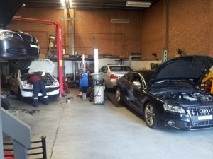 BMWs in the workshop
