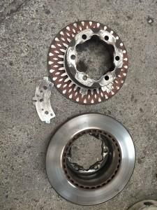 Brake rotor failure