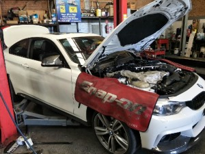F82 BMW M4 in for repair